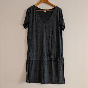 SWAK Dark Heather Gray High-Low T-Shirt Size 1X
